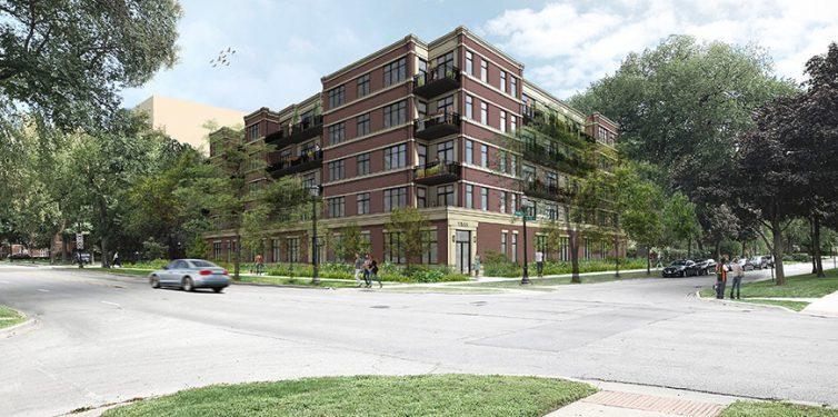 In progress – 1555 Ridge Avenue Evanston, Chicago